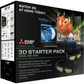 Mitsubishi 3DC-1000 3D Starter Kit with IR Emitter, 2 pairs of 3D Glasses and an HDMI Cable (3DC1000)